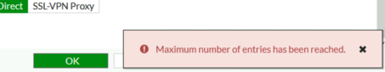 SSL Maximum number of entries has been reached
