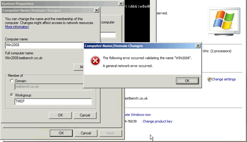 """Leave Domain: """"A general network error occurred'"""