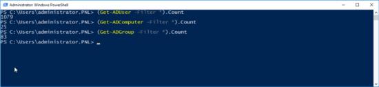 Get Active Directory User Count