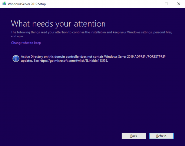 contain windows server 2019 adprep