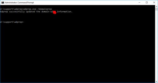 Upgrade to Windows 2019 domainprep domain controller