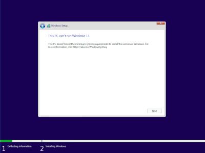 This PC cant run Windows 11
